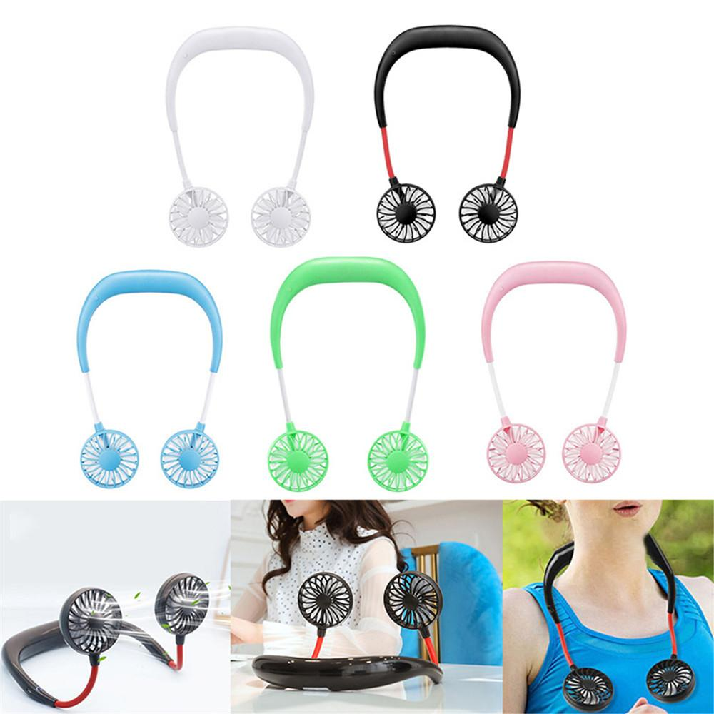 Hands Free Wearable Neckband Fan