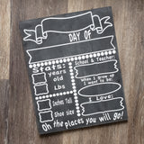 Chalkboard Milestones & Day of