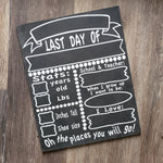Chalkboard First & Last day of