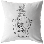 Mushroom Finger Throw Pillow by @themrgordo