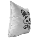 Skullfuck Throw Pillow by @themrgordo