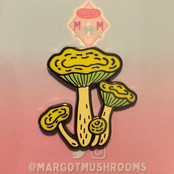 Yellow Russula Mushroom - Enamel Pin by Margot Mushrooms