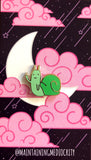 Green Rude Snail Enamel Pin by @maintainingmediocrity