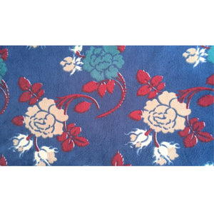 Water print royal velvet