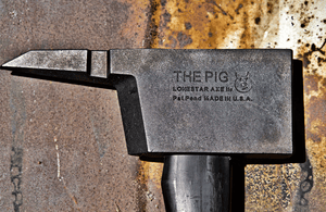 PIG Forcible Entry Tool - Notched PIG Axe - Black Handle