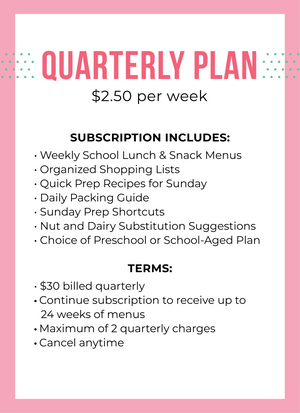 Quarterly Subscription Plan - Lunch Unpacked