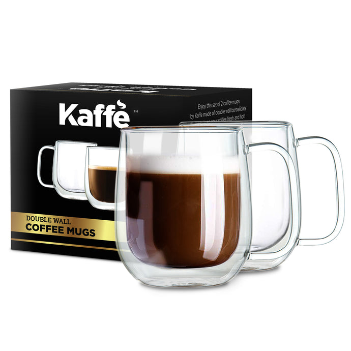 KF4041 Double-Wall Insulated Coffee Mugs by Kaffe (Set of 2) - 10 oz each