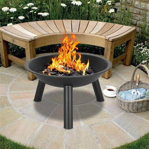 "22"" Iron Fire Pit Bowl for Outdoor Ferrisland"