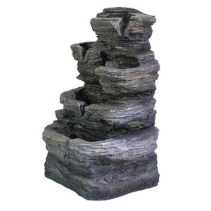 5-Tier Cascading Tabletop Fountain with LED Lights Ferrisland