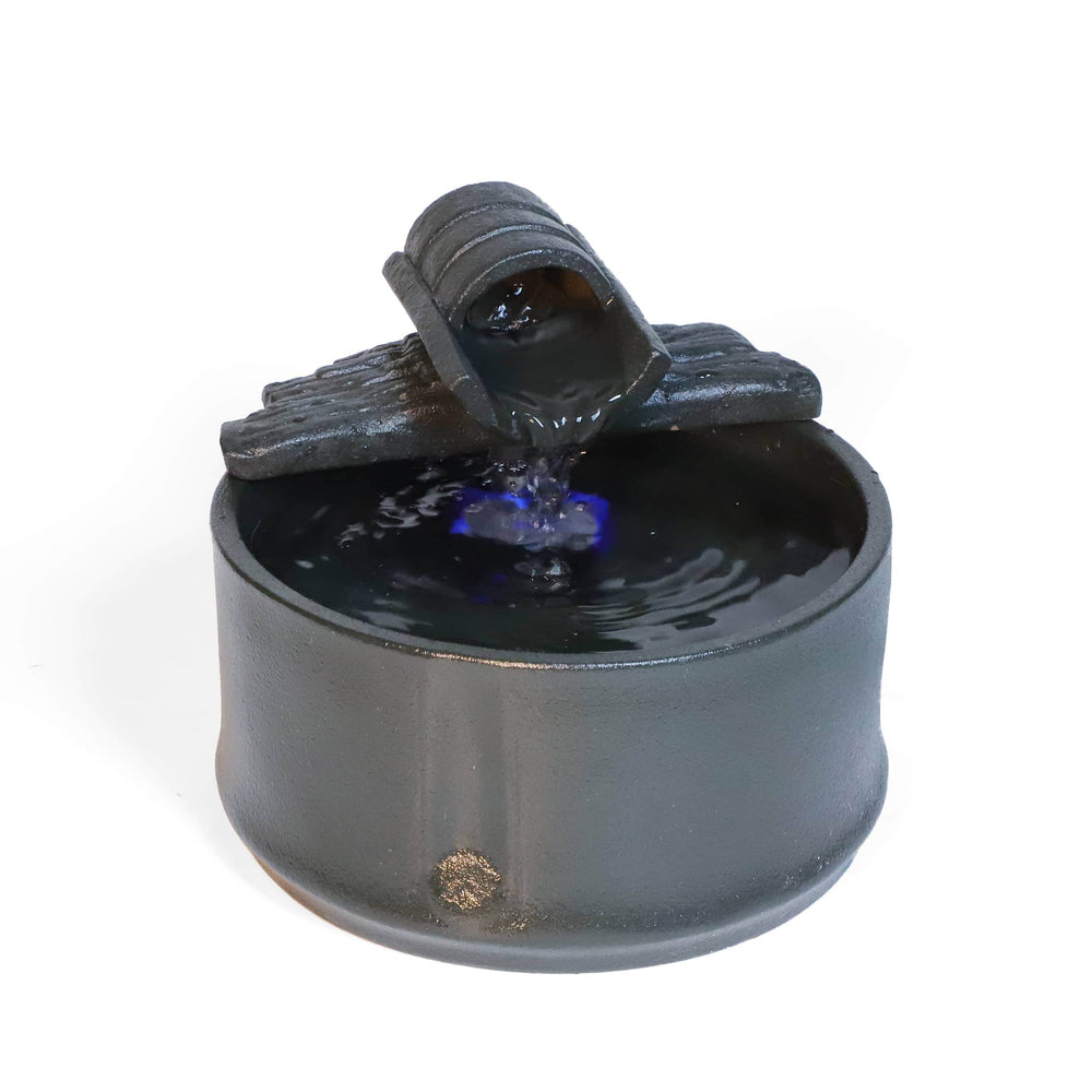 Black Ceramic Tabletop Water Fountain Ferrisland