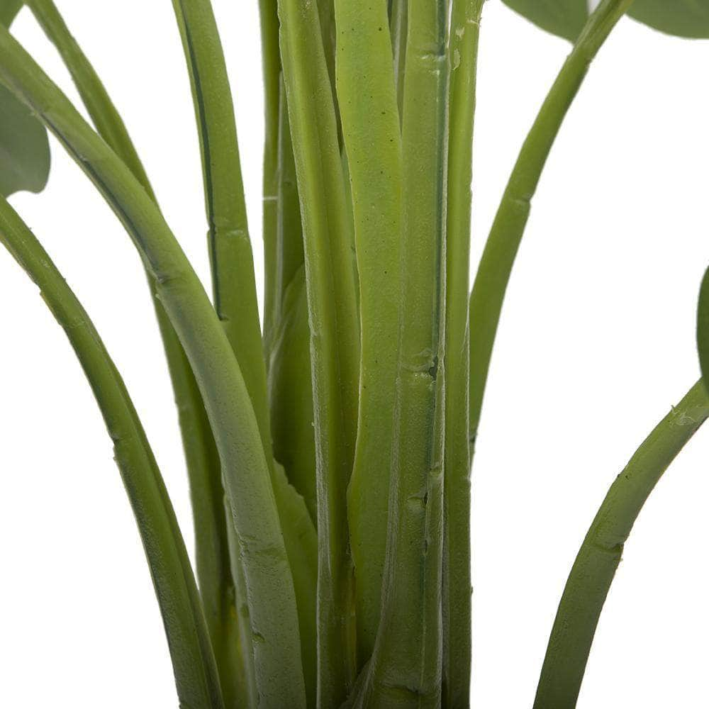 Indoor Artificial Tropical Plant Faux Monstera Leaves with Pot Ferrisland