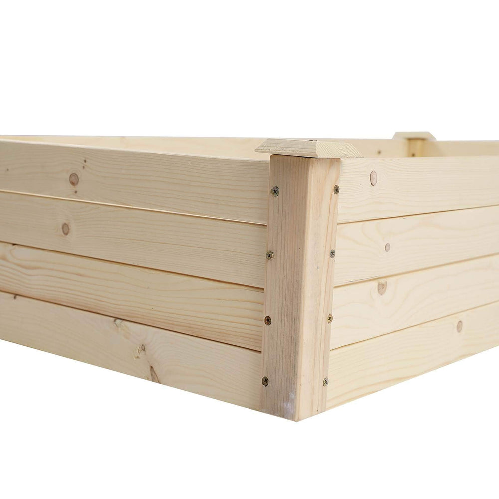 Wooden Planter Frame Double Grid Ground Type Ferrisland
