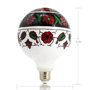 Large Flower Colored Decorative Light Bulb LIMOR