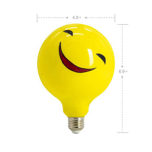 Large Smiling Face Colored Decorative Light Bulb LIMOR