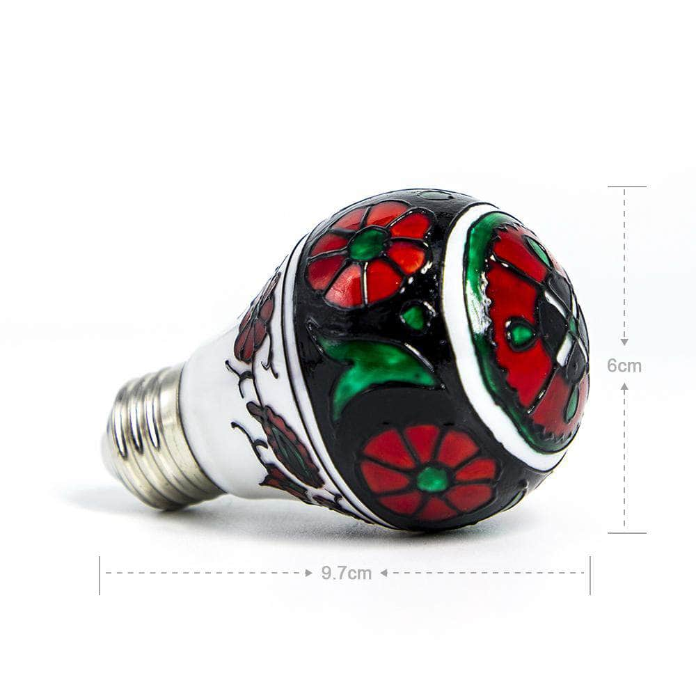 Small Flower Colored Decorative Light Bulb LIMOR