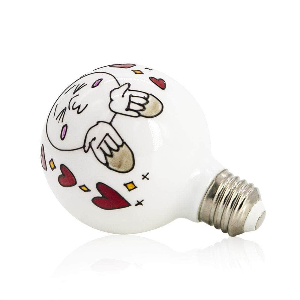 Small Kissing Face Colored Decorative Light Bulb LIMOR