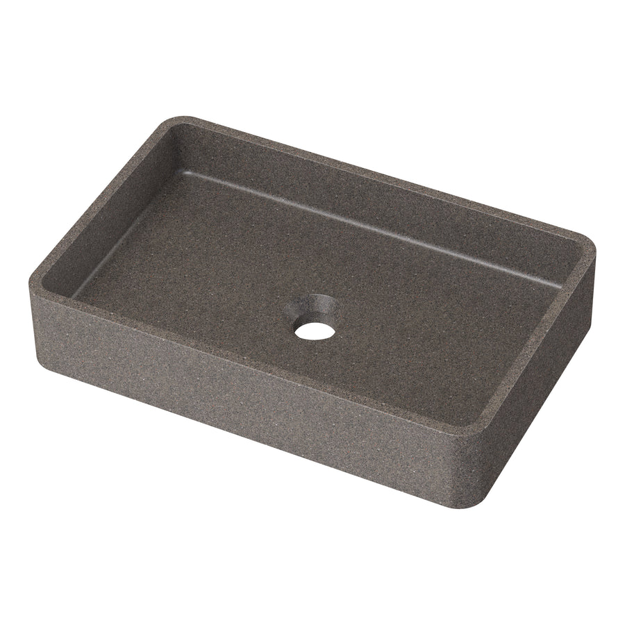 "Dana - 20"" Rectangular Concrete Counter Top Sink"