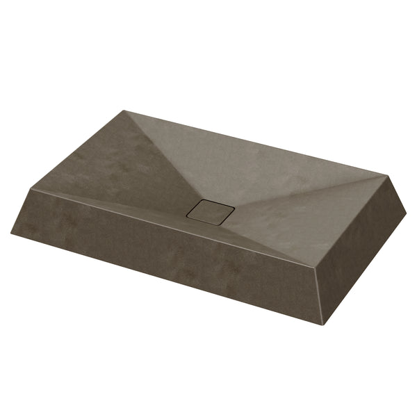 "Cambria - 27.5"" Rectangular Concrete Counter Top Sink"