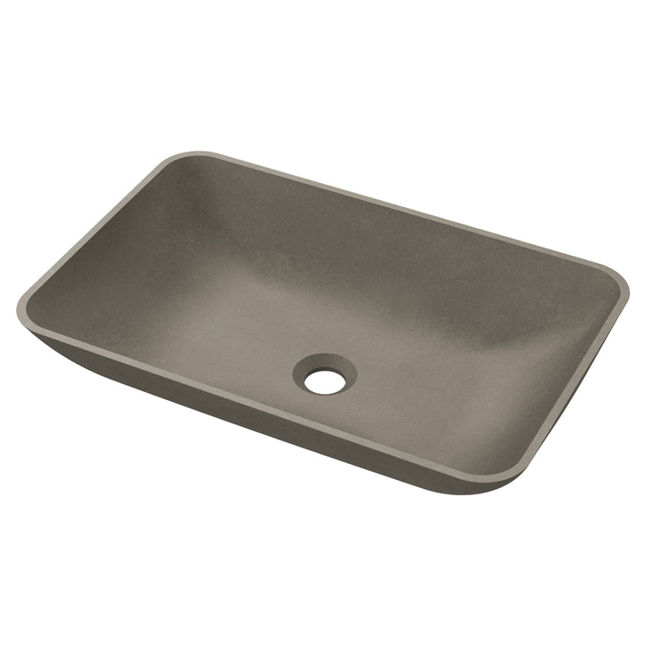 "Carmel - 22.25"" Rounded Rectangular Concrete Counter Top Sink"