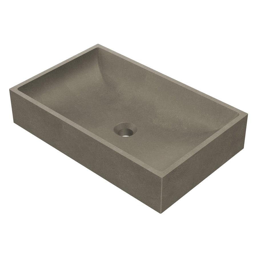 "Modesto - 23"" Rectangular Concrete Counter Top Sink"