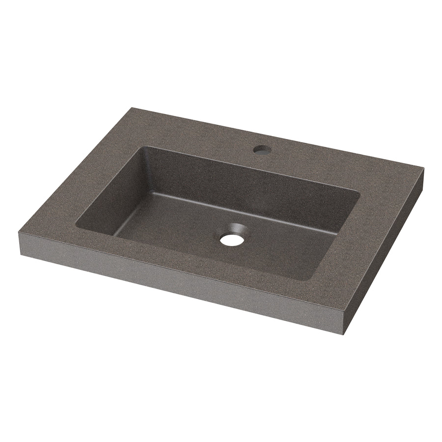 "Presidio - 23.5"" Rectangular Concrete Drop-In Sink"