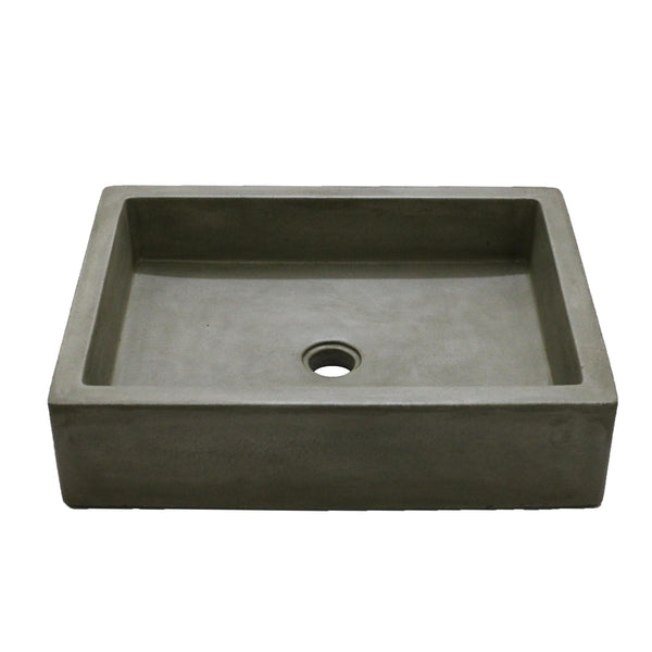 "Arcadia - 24"" Rectangular Concrete Vessel Sink"
