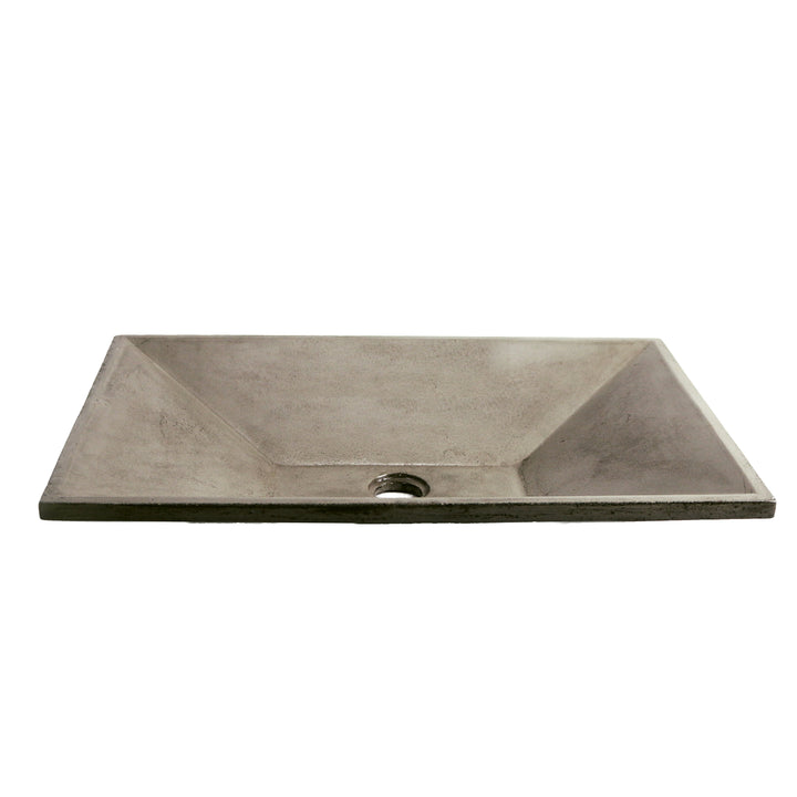 "Ventura - 24"" Rectangular Concrete Vessel Sink"