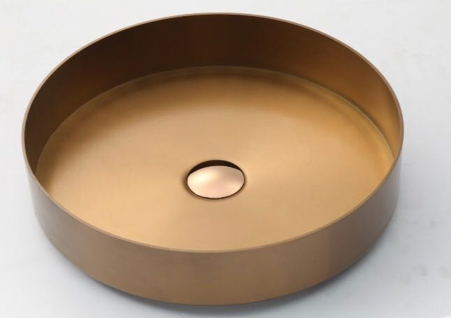 "Doheny - 15.75"" Circular PVD Stainless Steel Counter Top Sink"