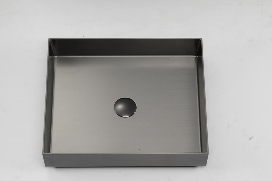 "Artesia - 19.68"" x 15"" x 4""  PVD Stainless Steel Counter Top Sink"