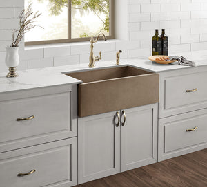 "Castro - 30"" Concrete Farmhouse Sink"