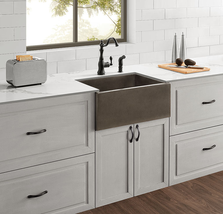 "Bradbury - 24"" Concrete Farmhouse Sink"