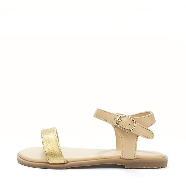 Lina Beige/Gold Sandals by Age of Innocence