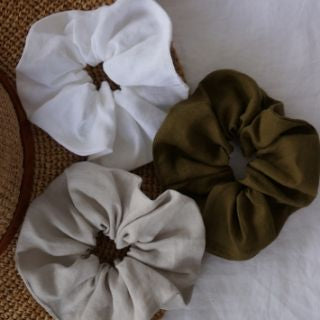 Little Fisher Co French Linen Scrunchie