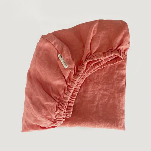 Fitted Cot Sheet Coral