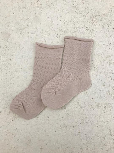 Tiny Trove Ribbed Socks Sand