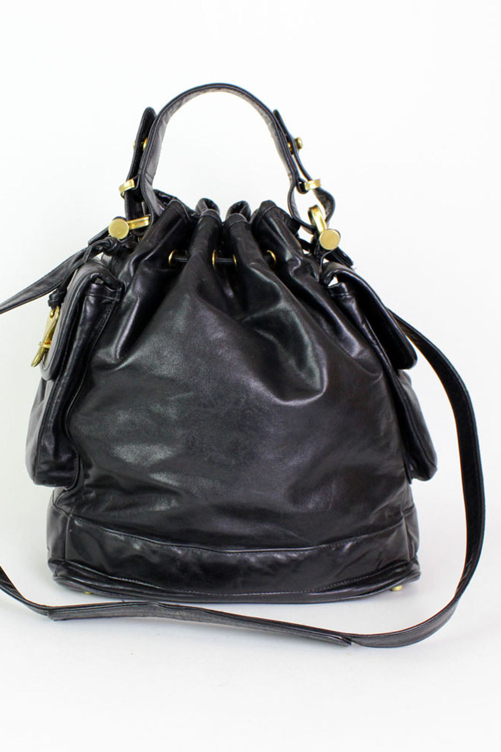 Donna Karan leather feed bag