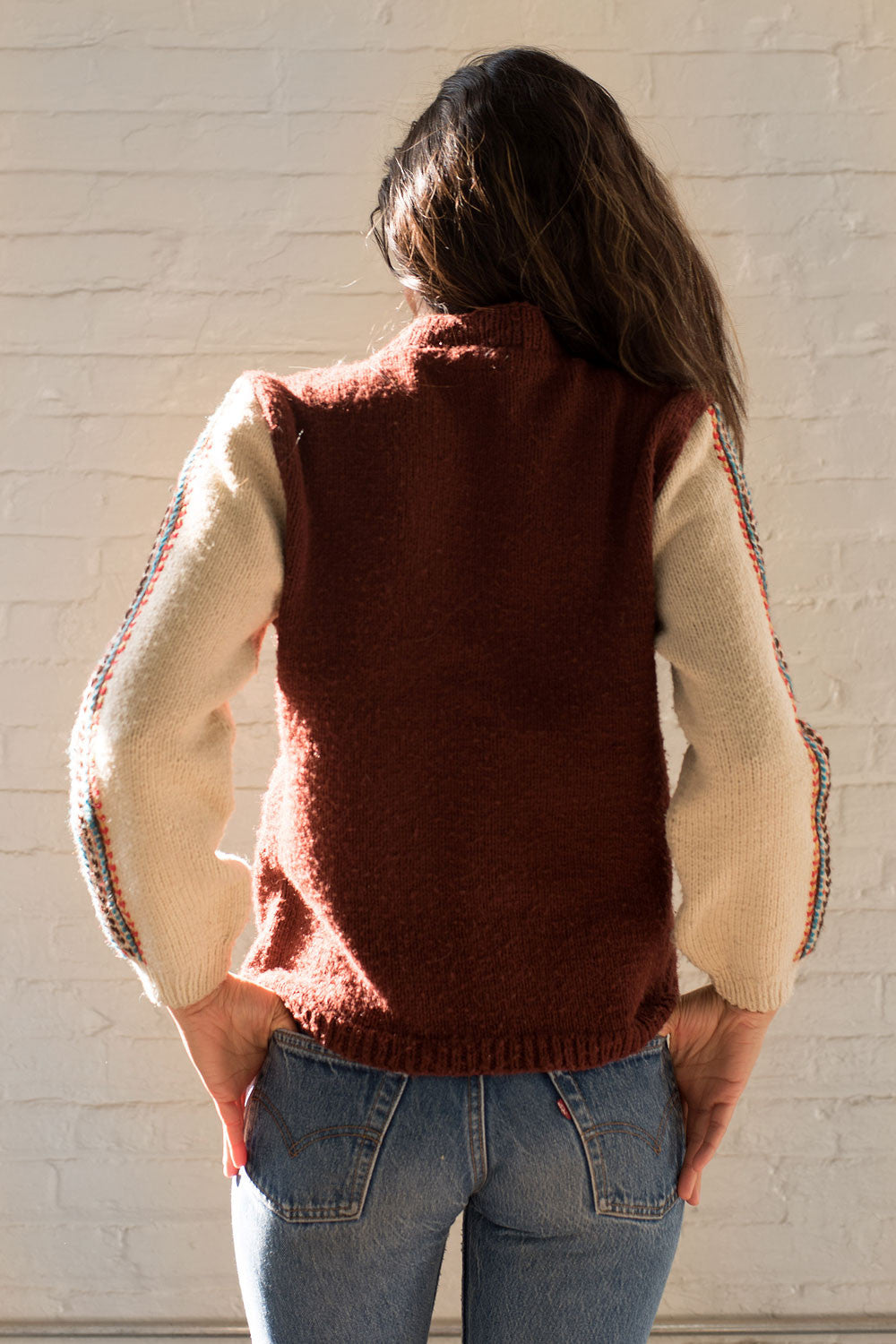 Feather Stitch 70s Sweater S