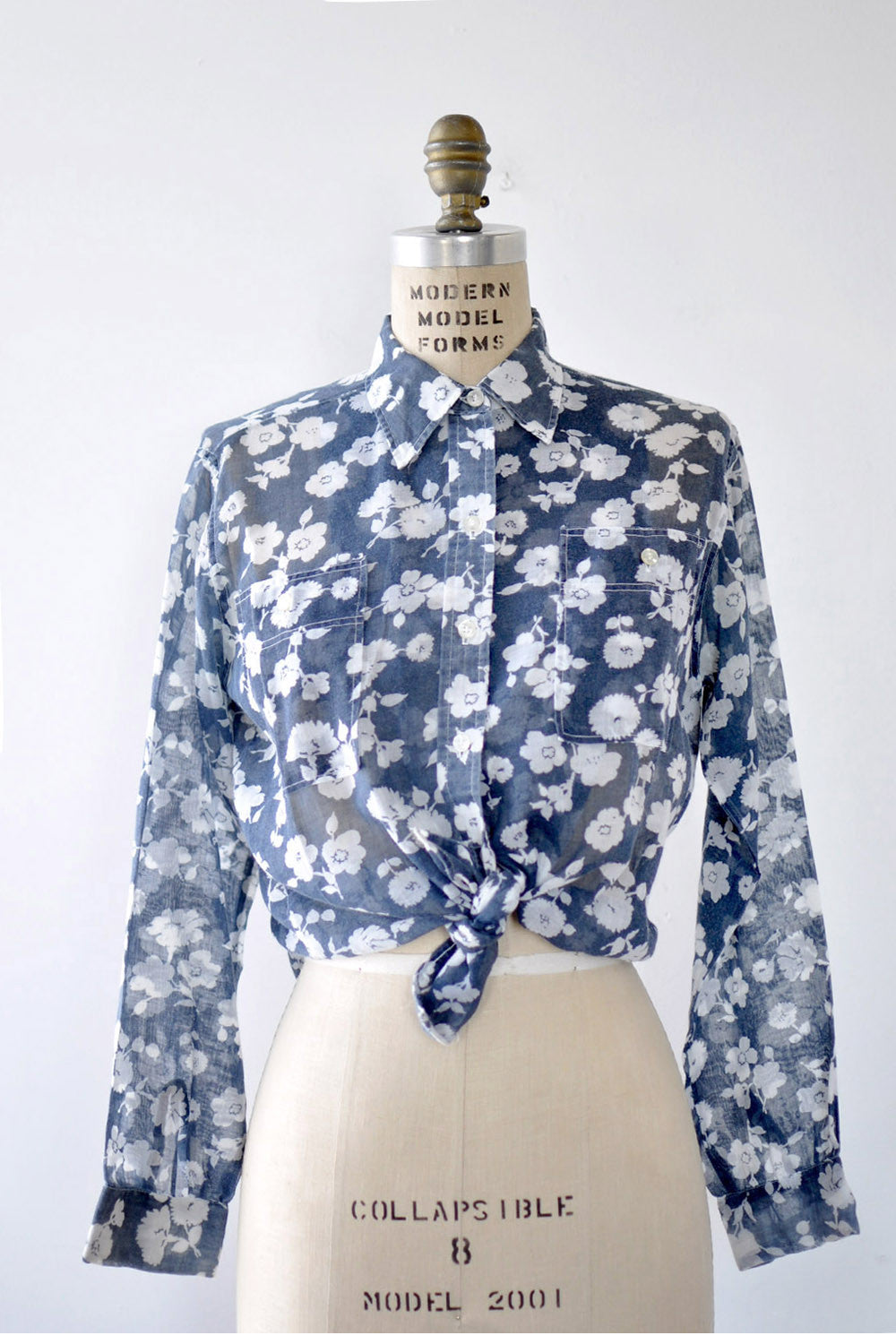 Sheer Floral Blouse S/M