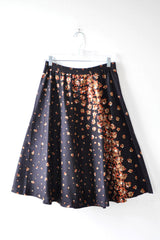 Cascading Floral Flare Skirt L