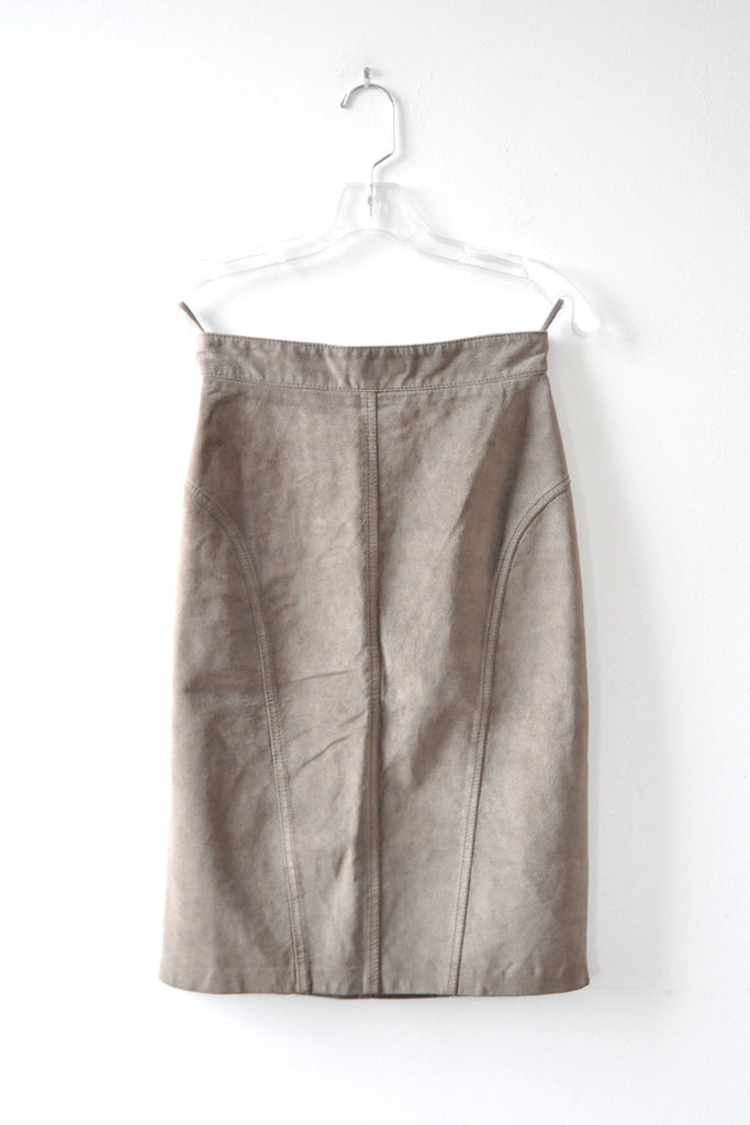 Gray Gucci Suede Skirt XS