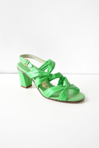 Lime Chunky Heel Sandals 6 1/2