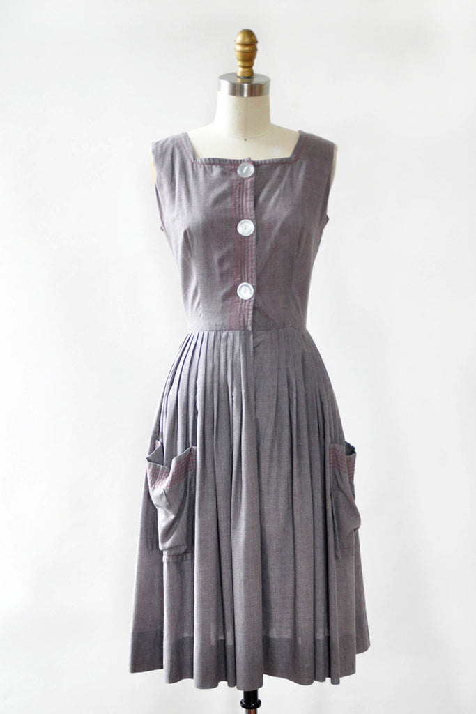 Gray Garden Cotton Dress XS/S