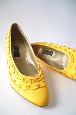 Canary Gucci Heels 7-7 1/2