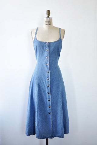 Speedy Lace-Up Denim Dress S/M