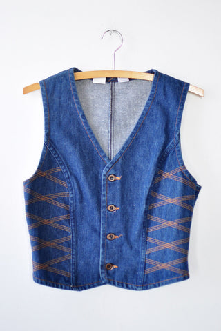 Zag on 'Em Denim Vest S