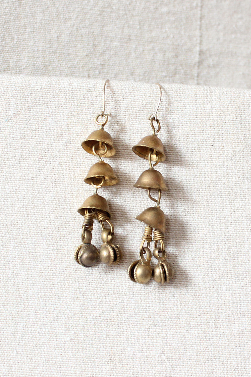Brass Bells Earrings