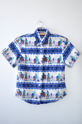 Roper Novelty Button Up XS