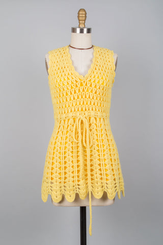 Lemon Crochet Tunic XS