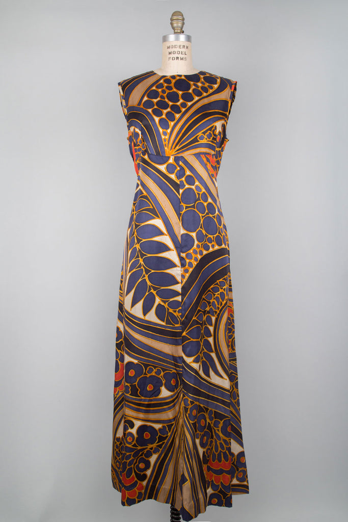 Dazed Silk Maxi Dress M/L
