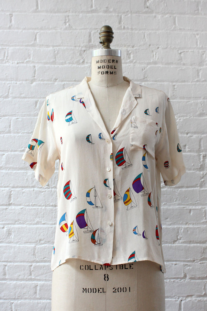 Silk Set Sail Blouse S-L